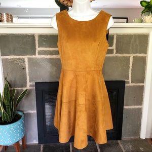 HYPR   Faux Suede Western Fit & Flare Dress